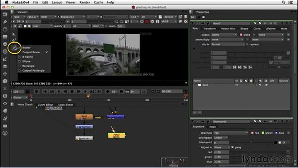 Color grading, adding grain, and working with lens distortion: VFX Techniques: Creating a CG Flag with Nuke X and CINEMA 4D