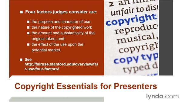 Copyright essentials for presenters: PowerPoint: Using Photos and Video Effectively for Great Presentations