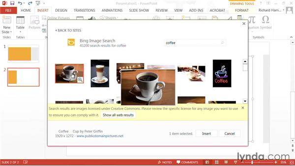 Browsing online: PowerPoint: Using Photos and Video Effectively for Great Presentations