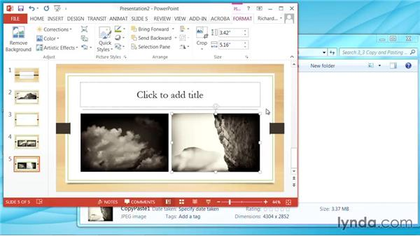 Copying and pasting images: PowerPoint: Using Photos and Video Effectively for Great Presentations