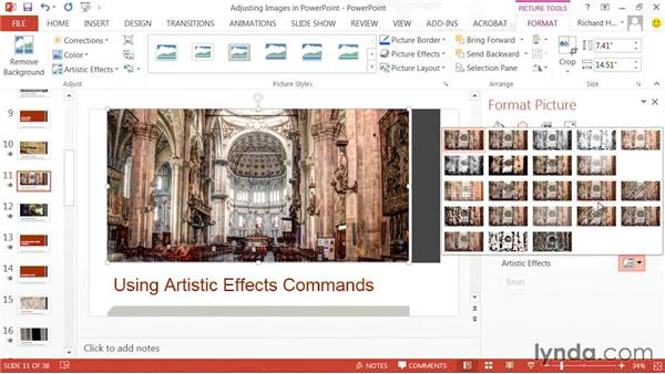 Using Artistic Effects: PowerPoint: Using Photos and Video Effectively for Great Presentations