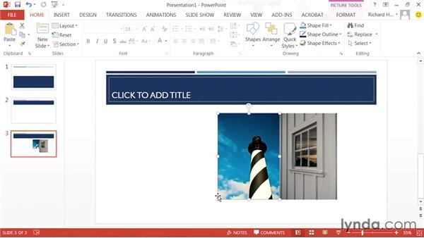 Cropping an image: PowerPoint: Using Photos and Video Effectively for Great Presentations