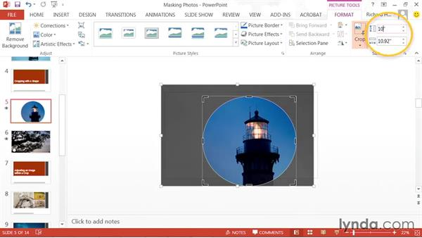 Cropping with a shape: PowerPoint: Using Photos and Video Effectively for Great Presentations