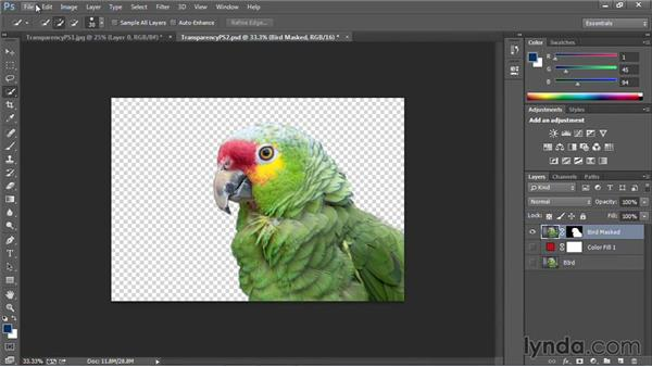 Adding transparency with Photoshop: PowerPoint: Using Photos and Video Effectively for Great Presentations