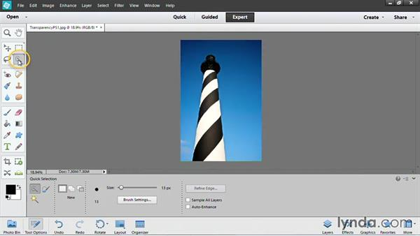Adding transparency with Photoshop Elements: PowerPoint: Using Photos and Video Effectively for Great Presentations
