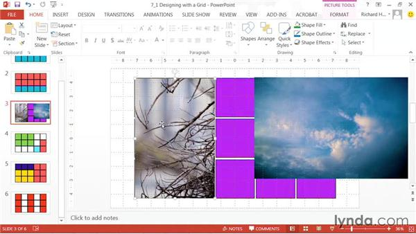 Designing with a grid: PowerPoint: Using Photos and Video Effectively for Great Presentations