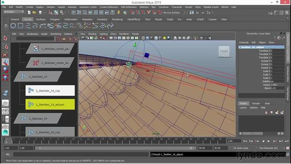 """Addressing the wing """"tuck"""": Rigging a Winged Animal in Maya"""