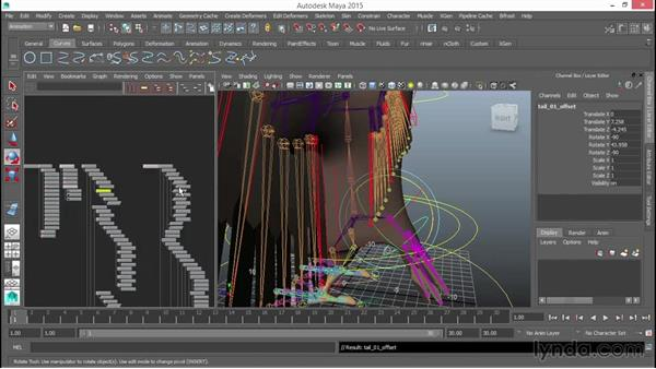 Tying the rig elements together: Rigging a Winged Animal in Maya