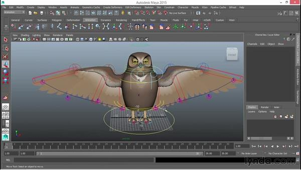 Testing the rig: Rigging a Winged Animal in Maya