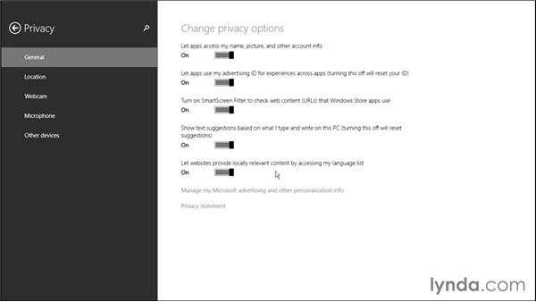Customizing privacy options: Windows 8.1 Tips and Tricks