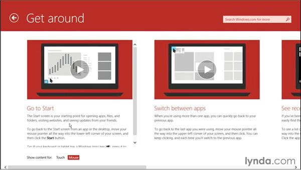 Getting help from Help+Tips: Windows 8.1 Tips and Tricks