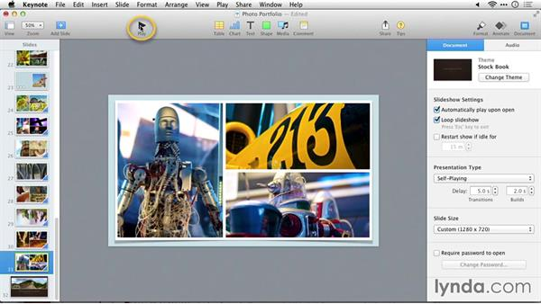 Looping slideshows: Delivering Keynote 6 Presentations