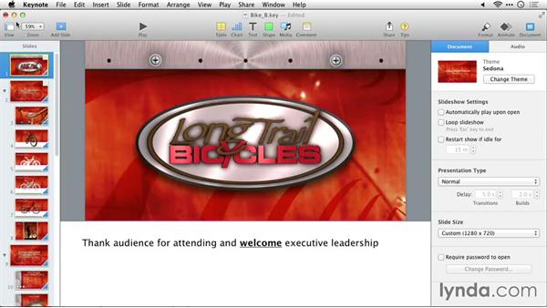 Printing your outline: Delivering Keynote 6 Presentations