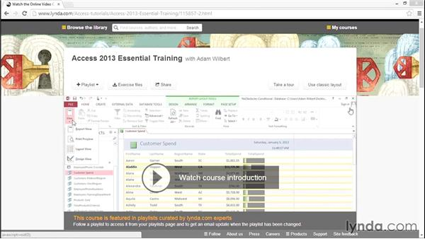 What you should know before watching this course: Access 2013 Power Tips