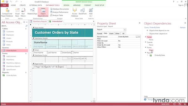 Embedding queries in reports: Access 2013 Power Tips