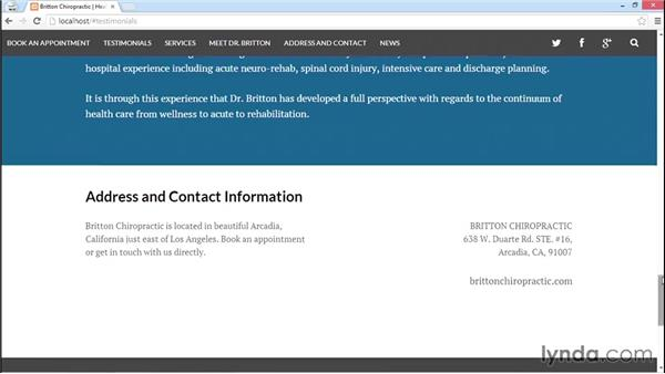 Rationale and preview of the final project: WordPress: Building a One-Page Style Site