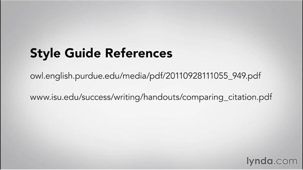 Overview of style guides: Writing Research Papers