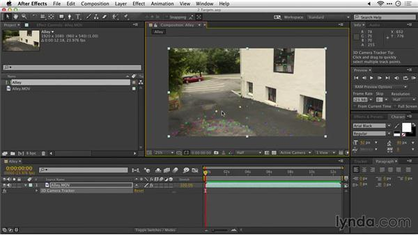 Choosing and moving a target: After Effects Guru: Tracking and Stabilizing Footage