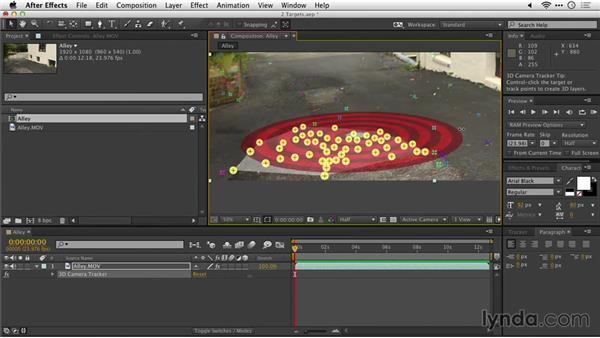 Resizing a target: After Effects Guru: Tracking and Stabilizing Footage