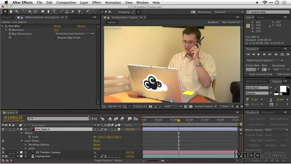 Mapping an object to a surface: After Effects Guru: Tracking and Stabilizing Footage