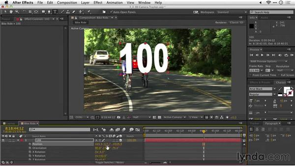 Adding 3D text to a scene: After Effects Guru: Tracking and Stabilizing Footage