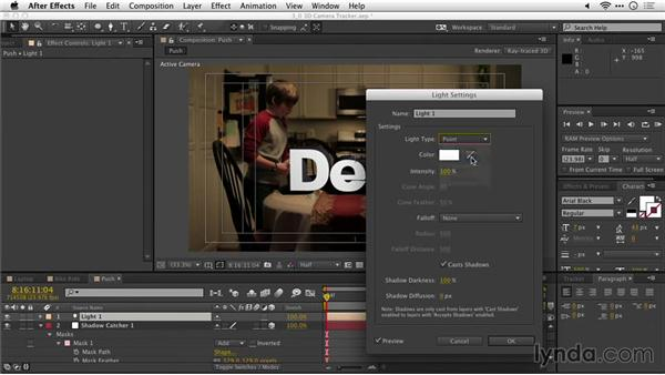 """Adding shadows to a scene with a """"shadow catcher"""": After Effects Guru: Tracking and Stabilizing Footage"""