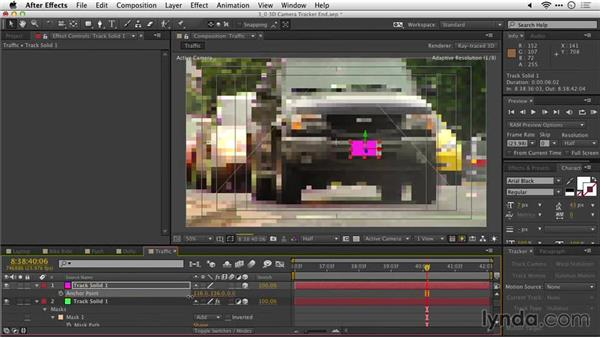 Tracking an object with the 3D camera tracker: After Effects Guru: Tracking and Stabilizing Footage