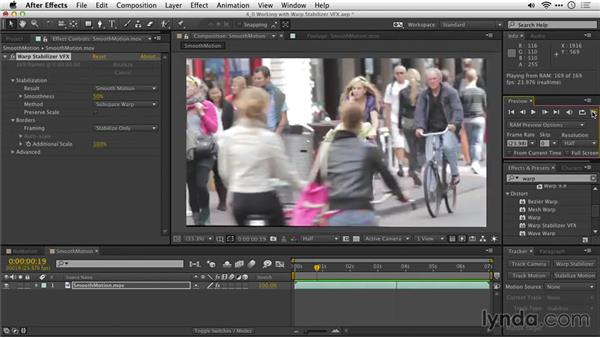Choosing between no-motion and smooth-motion methods: After Effects Guru: Tracking and Stabilizing Footage