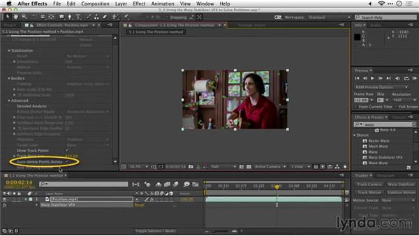 Using the position method: After Effects Guru: Tracking and Stabilizing Footage