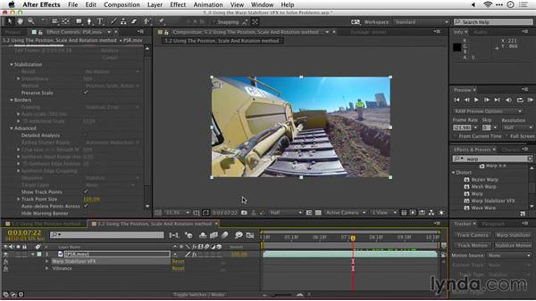 Using the Position, Scale, Rotation method: After Effects Guru: Tracking and Stabilizing Footage