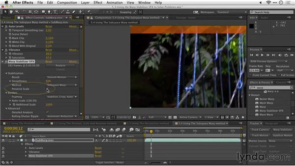Using the Subspace Warp method: After Effects Guru: Tracking and Stabilizing Footage