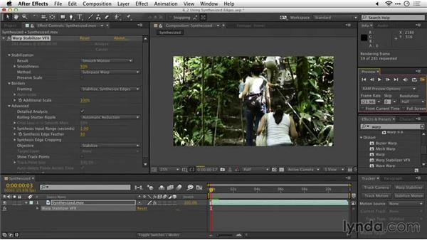 Using synthesized edges: After Effects Guru: Tracking and Stabilizing Footage