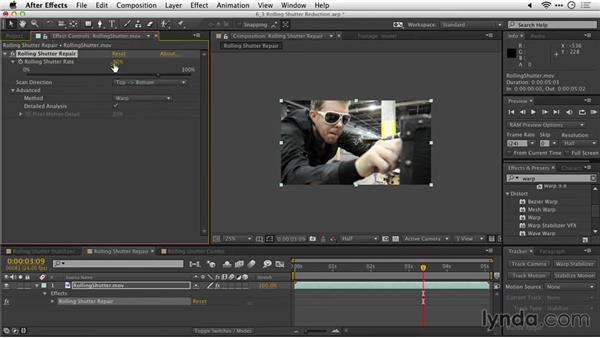 Rolling shutter reduction: After Effects Guru: Tracking and Stabilizing Footage