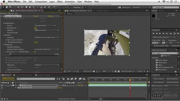 Balancing crop and smoothness: After Effects Guru: Tracking and Stabilizing Footage