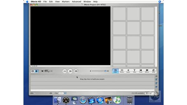 Primary interface: iMovie HD + iDVD 5 Essential Training