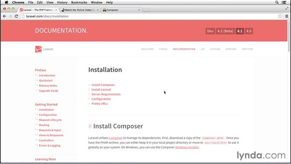 Setting up Composer on the Mac: Up and Running with Laravel