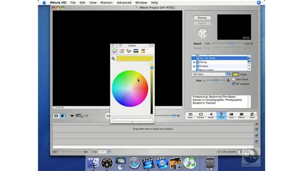 Titles: iMovie HD + iDVD 5 Essential Training