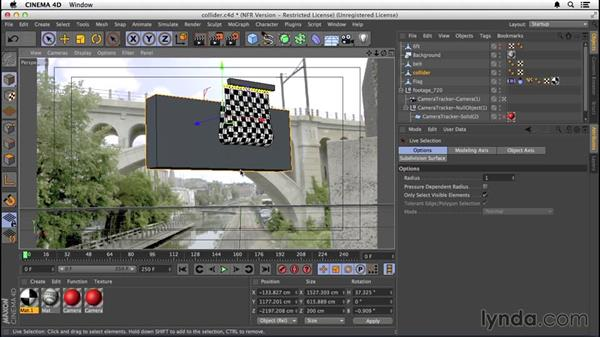 Building a collider object: VFX Techniques: Creating a CG Flag with After Effects and CINEMA 4D