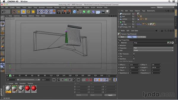 Texturing the flag: VFX Techniques: Creating a CG Flag with After Effects and CINEMA 4D