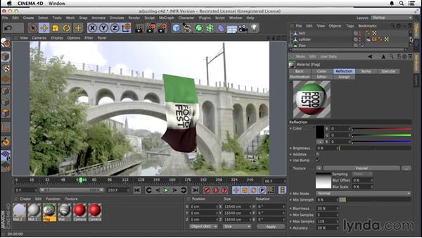 Adjusting the texture: VFX Techniques: Creating a CG Flag with After Effects and CINEMA 4D
