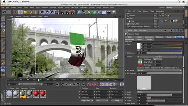 Setting up render passes: VFX Techniques: Creating a CG Flag with After Effects and CINEMA 4D