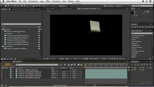 Setting up the composite: VFX Techniques: Creating a CG Flag with After Effects and CINEMA 4D