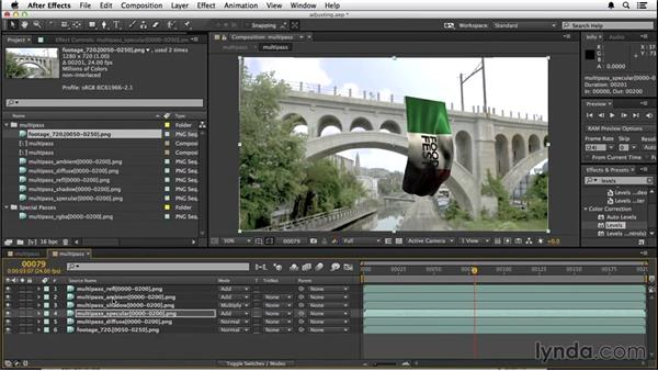 Compositing the passes: VFX Techniques: Creating a CG Flag with After Effects and CINEMA 4D
