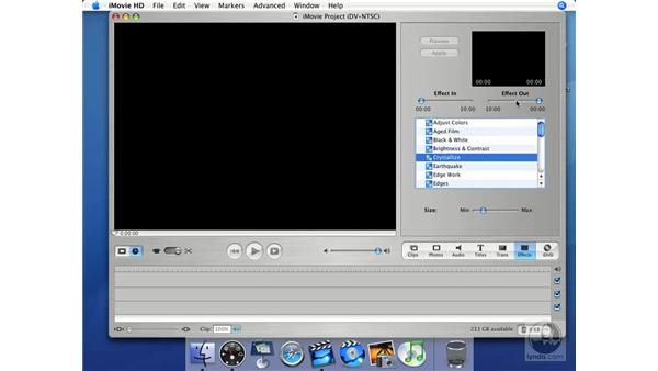 Effects: iMovie HD + iDVD 5 Essential Training
