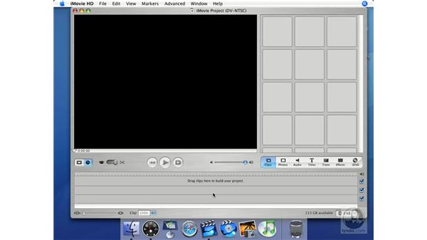 Timeline view: iMovie HD + iDVD 5 Essential Training