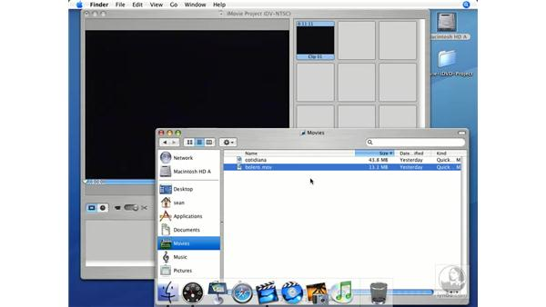 Importing from the finder: iMovie HD + iDVD 5 Essential Training
