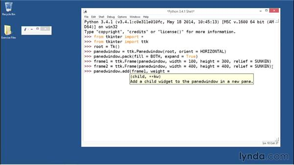 Separating widgets within paned windows: Python GUI Development with Tkinter