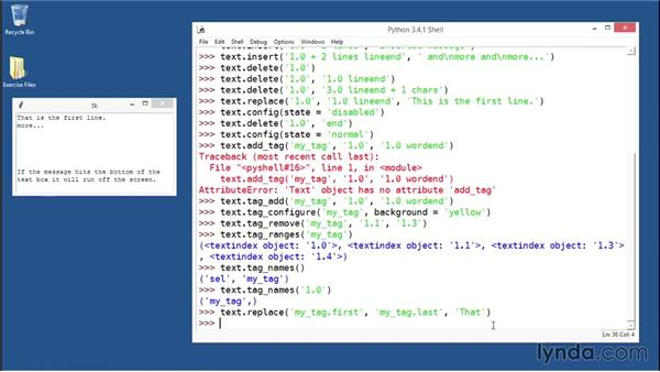 Adding tags, marks, images, and widgets to the Text widget: Python GUI Development with Tkinter