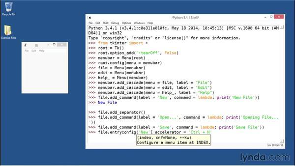 Building cascading menus: Python GUI Development with Tkinter