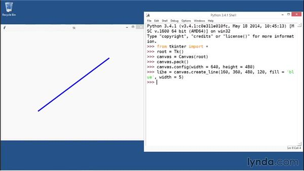 Drawing a basic line on the Canvas: Python GUI Development with Tkinter